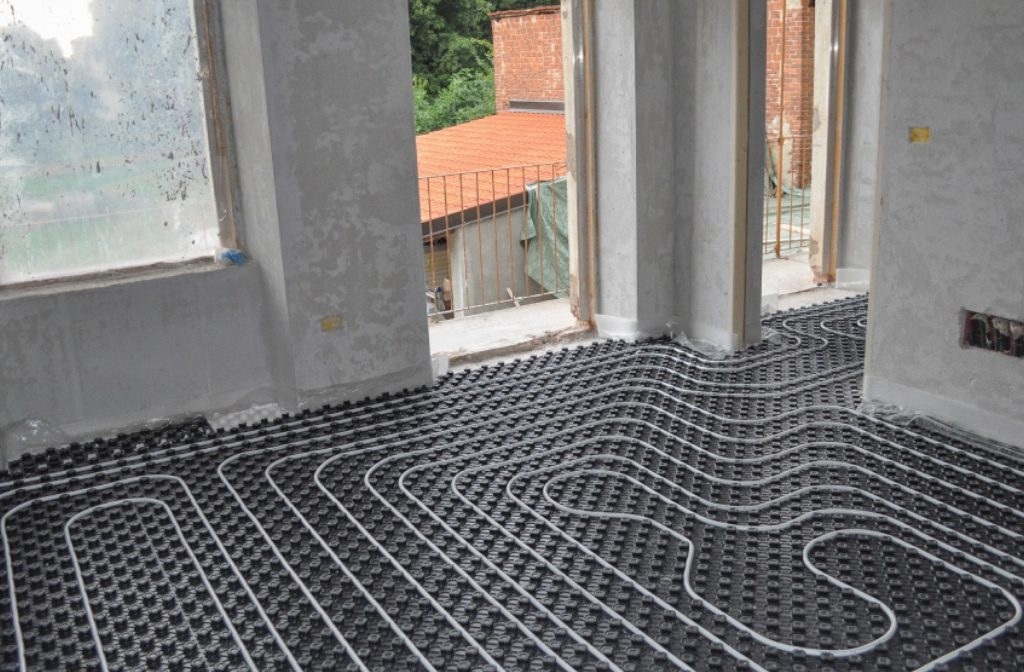 Underfloor Heating turns the floor into a radiator