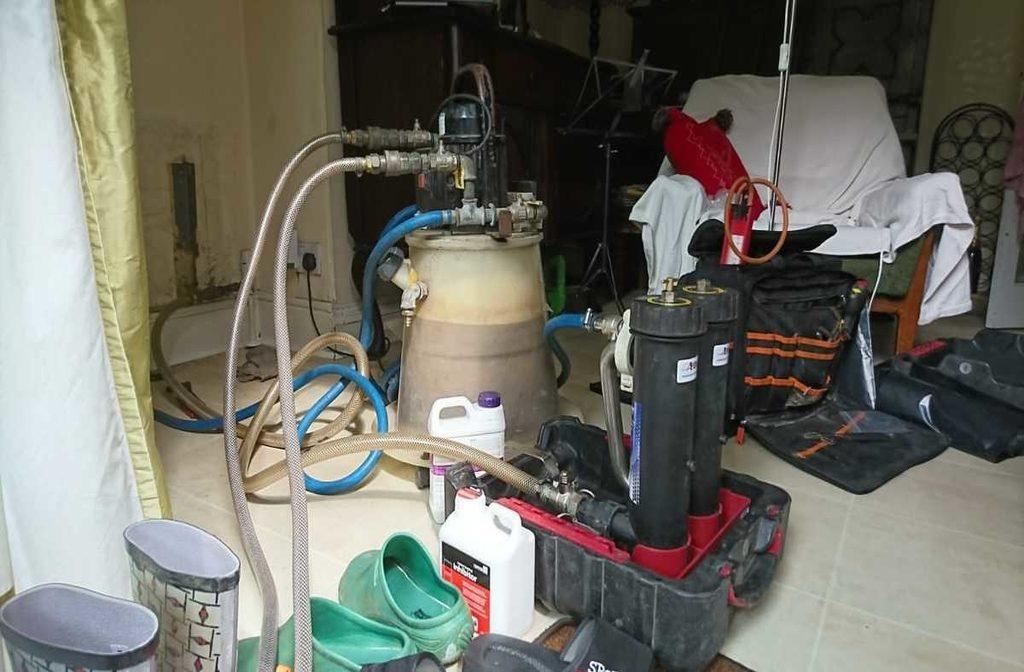 Power Flushing to remove debris
